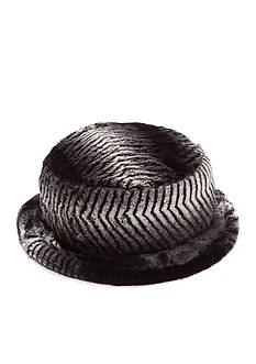 New Directions Plush Faux Fur Bucket Hat