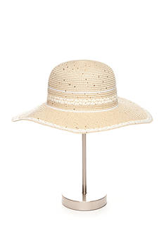 New Directions® Paper Straw Sequin Floppy Hat