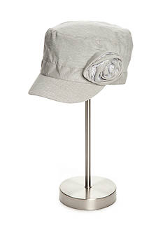 New Directions Military Hat with Flower