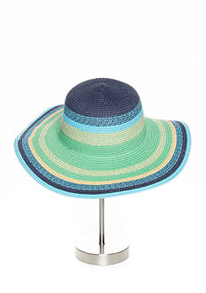 New Directions Floppy Colorblock Hat