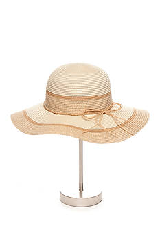New Directions® Paper Straw Color Block Floppy Hat