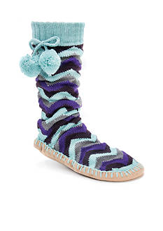MUK LUKS® Pom Pom Slipper Socks - Single Pair