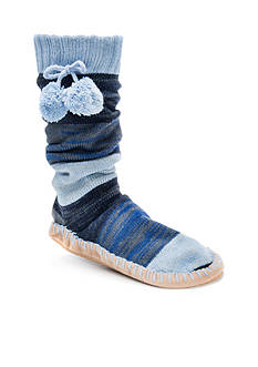 MUK LUKS Pom Pom Slipper Socks - Single Pair