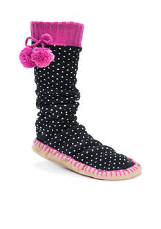 MUK LUKS Pom Pom Slipper Socks - Single Pair