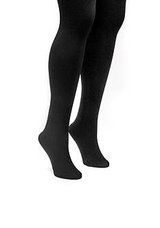 MUK LUKS Women's Fleece Lined 2-Pair Tights