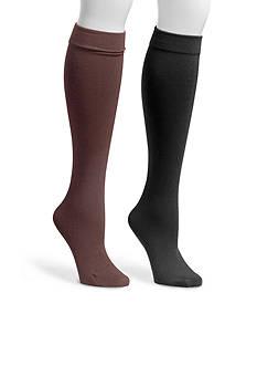 MUK LUKS® Women's Fleece Lined 2-Pair Knee High Socks