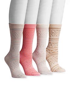 MUK LUKS® Women's Microfiber 4-Pair Crew Socks
