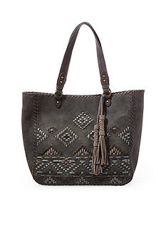 STEVEN Multicolor Whipstitch Tote
