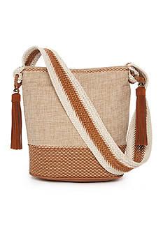 STEVEN Natural Straw Crossbody Bag