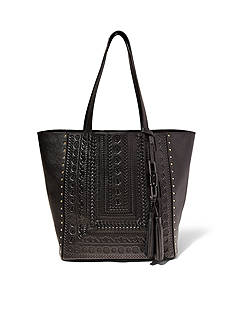 STEVEN Indie Embossed Leather Tote