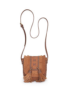 STEVEN Suede Bang Fringe Saddle Bag