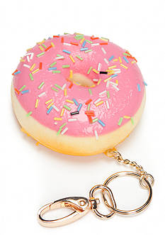 Red Camel Pink Sprinkle Donut Key Chain