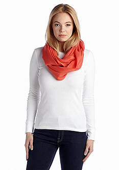 Calvin Klein Solid Crepe Infinity Scarf