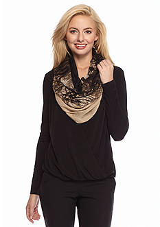 Calvin Klein Forest Print Infinity Scarf
