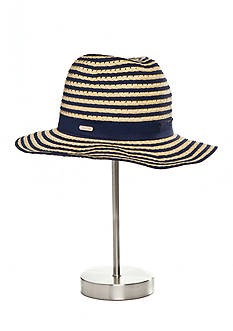 Calvin Klein Striped Vented Panama Hat