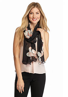 Calvin Klein Lily Floral Ruffle Scarf