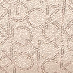 White Handbags: Champagne Metallic Calvin Klein Key Item Monogram Crossbody