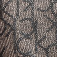 Calvin Klein Accessories: Textured Khaki/Black Calvin Klein Key Item Monogram Tote