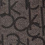 Handle and Tote Bags: Textured Khaki/Black/Black Calvin Klein Novelty Monogram Tote