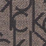 Pink Designer Handbags: Textured Khaki/ Black Calvin Klein Key Items Signature Monogram Crossbody