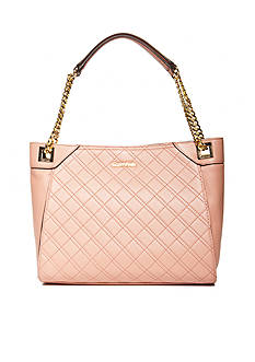 Calvin Klein Permanent Quilted Lamb Tote Bag
