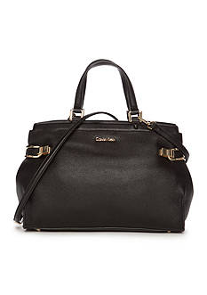 Calvin Klein Pinnacle Pebble Leather Satchel