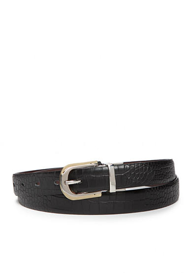 New Directions® Two-Tone Buckle Reversible Belt