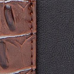 Handbags and Wallets: Black/Brown New Directions Zip Around Hornback Wallet