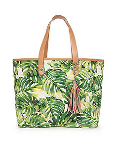 New Directions Palm Leaf Tote