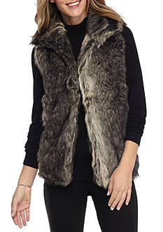 New Directions Faux Fur Vest