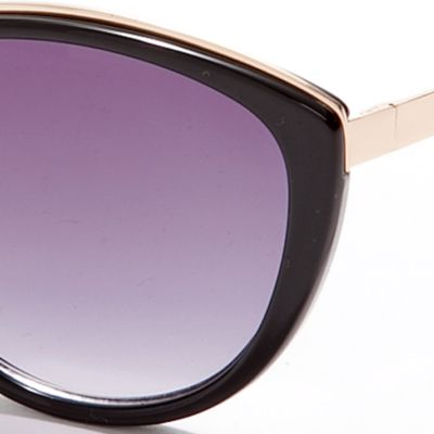 Vince Camuto: Black Vince Camuto Plastic Cat Eye Sunglasses