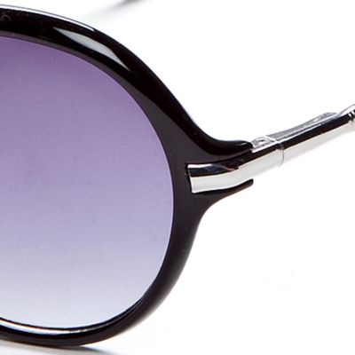 Round Sunglasses: Black Vince Camuto Oval Glam Sunglasses