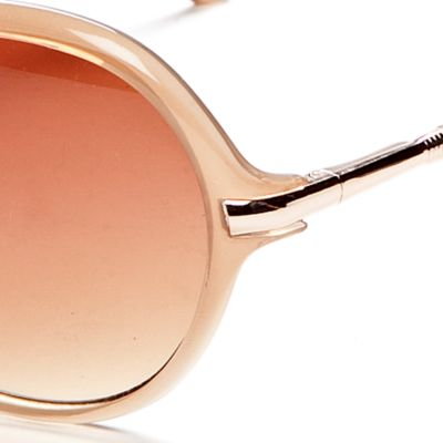 Round Sunglasses: Natural Vince Camuto Oval Glam Sunglasses