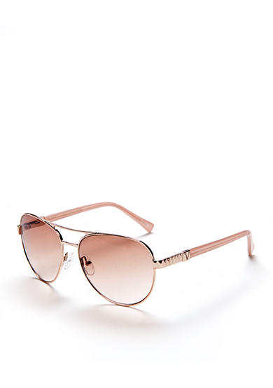 Vince Camuto Etch Detail Classic Aviator Sunglasses