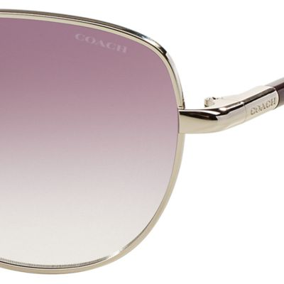 Handbags & Accessories: Coach Designer Sunglasses: Purple COACH Uptown Bead Chain Aviator Sunglasses