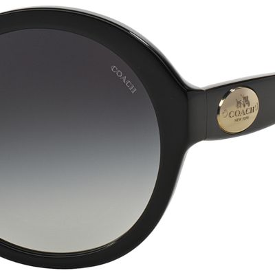 Handbags & Accessories: Coach Designer Sunglasses: Black COACH Round Horse and Carriage Sunglasses