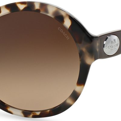 Handbags & Accessories: Coach Designer Sunglasses: Light Tortoise COACH Round Horse and Carriage Sunglasses