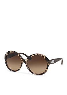 COACH Round Horse and Carriage Sunglasses