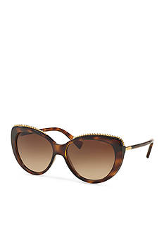 COACH Uptown Beaded Chain Cateye Sunglasses