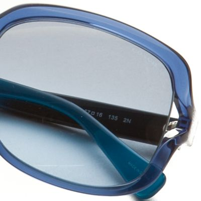 Handbags & Accessories: Coach Designer Sunglasses: Blue COACH Vented Square Sunglasses