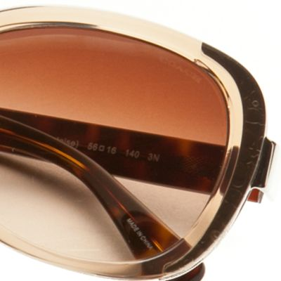 Handbags & Accessories: Coach Designer Sunglasses: Light Brown COACH Small Square Sunglasses