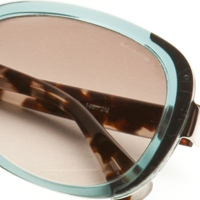 Handbags & Accessories: Coach Designer Sunglasses: Teal COACH Small Square Sunglasses