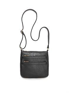 New Directions Dual Zipper Front Crossbody Bag