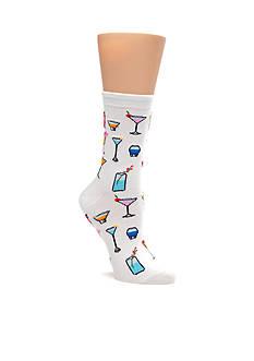 Hot Sox Tropical Drinks Trouser Sock