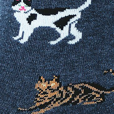 Hot Sox: Denim Hot Sox Classic Cats Trouser Sock