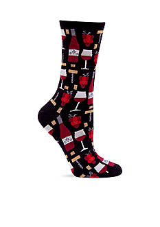 Hot Sox® Wine Crew Sock