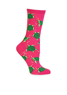 Hot Sox Turtles Crew Socks - Single Pair