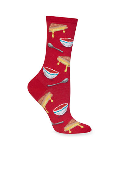 Hot Sox® Grilled Cheese And Tomato Soup Crew Socks - Single Pair