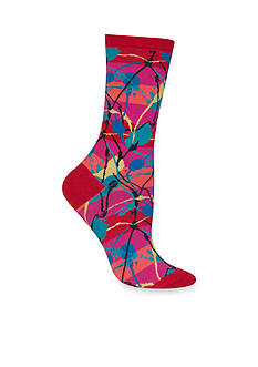 Hot Sox® Splatter Stripe Socks-Single Pair