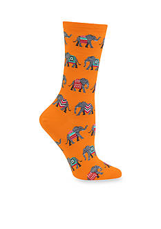 Hot Sox Bright And Comfortable Elephant Socks - Single Pair